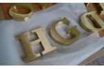 Brass sign, Brass sign letters