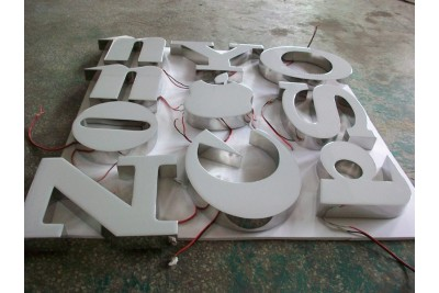 Resin sign letters