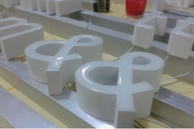 Epoxy sign letters
