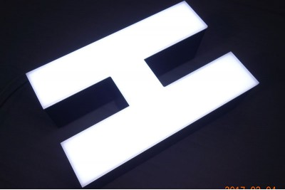 Stainless steel signs with LED, stainless steel letters with LED