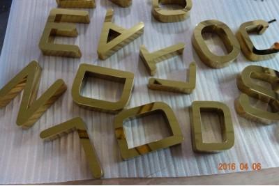 Titanium signs, Titanium letters
