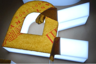 Acrylic sign, Acrylic sign letters with LED