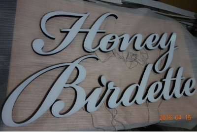 Acrylic sign with LED, Acrylic sign letters with LED