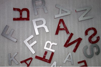 Solid aluminum letters